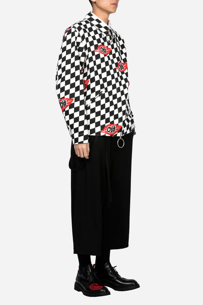 Checker Leaf Work Jacket All Over No Color