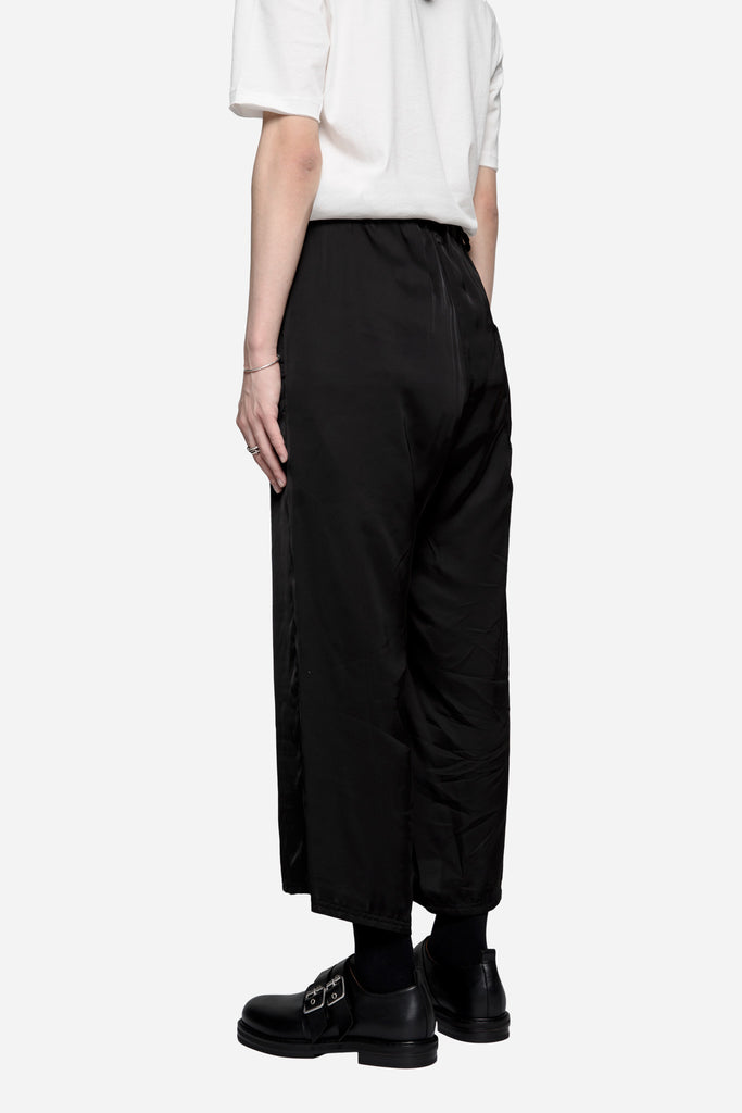 Payce Baggy Cropped Trousers Coal