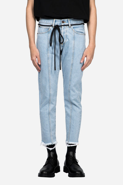 Off-White - Diag Raw Cut Crop 5 Pockets Bleach No Color