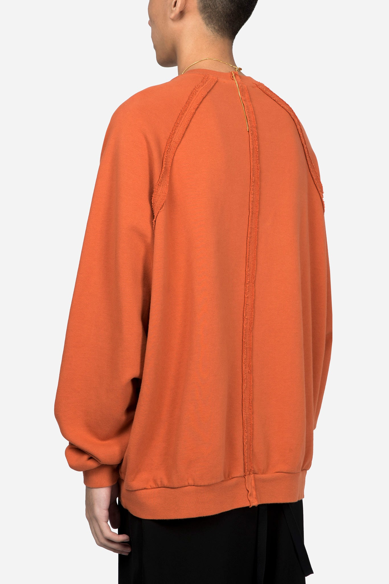Orange Heavy Jersey Reglan Sweater W/ Patch 01