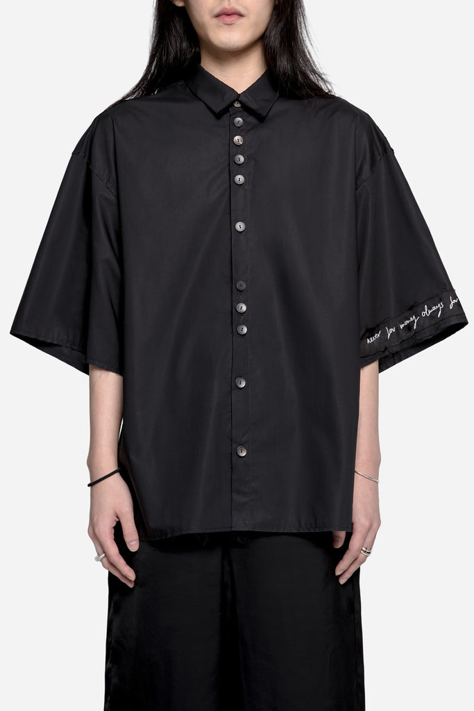 Sol Popline SS Shirt Coal Black