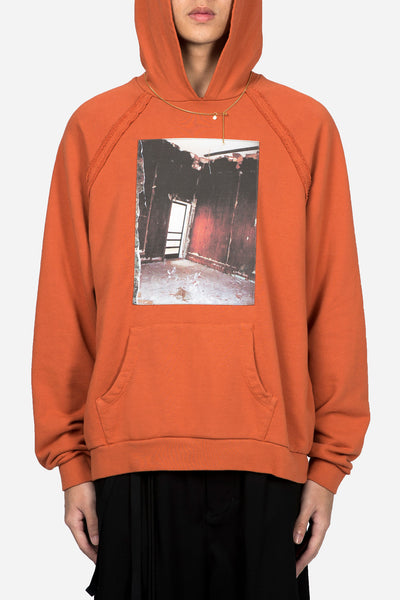 Komakino - Orange Heavy Jersey Reglan Hoodie W/ Patch 18