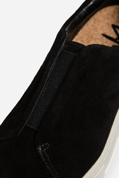 Doja Suede Slip On Black