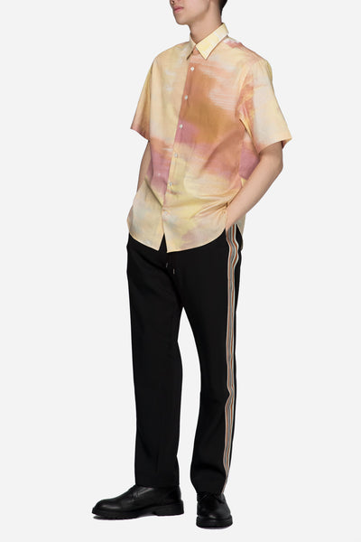 Boxy Shirt Abstract Print