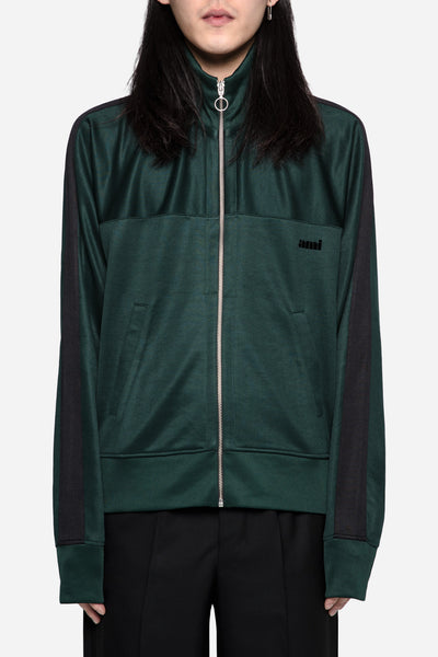 AMI - Zipped Sweatshirt Green