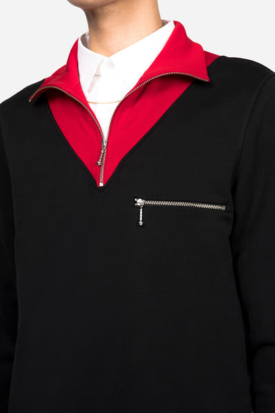 Zip Sweashirt Black/Red