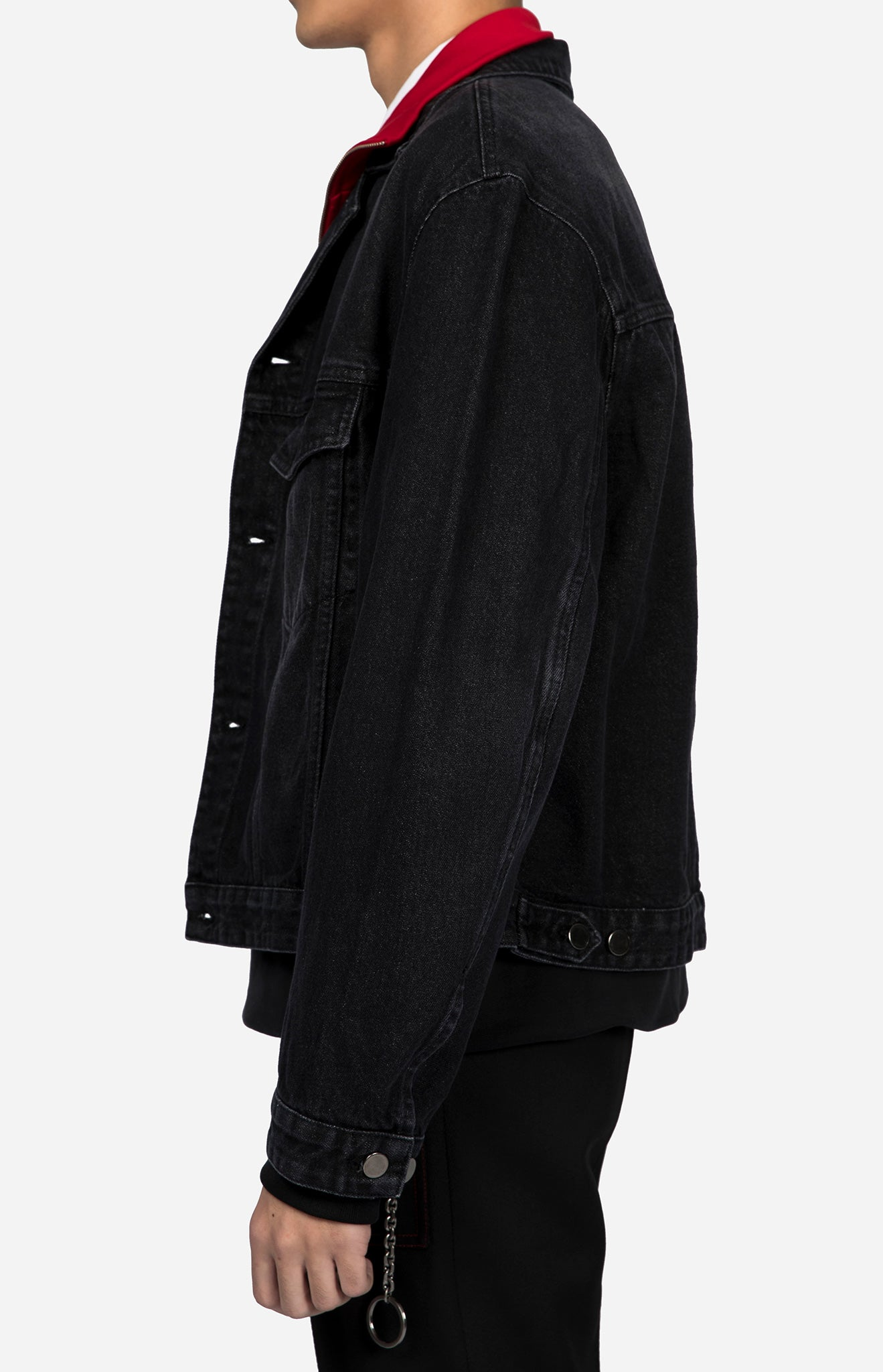 Boxy Fit Denim Jacket Black