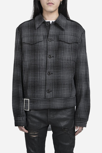 Off-White - Check Military Jacket Black