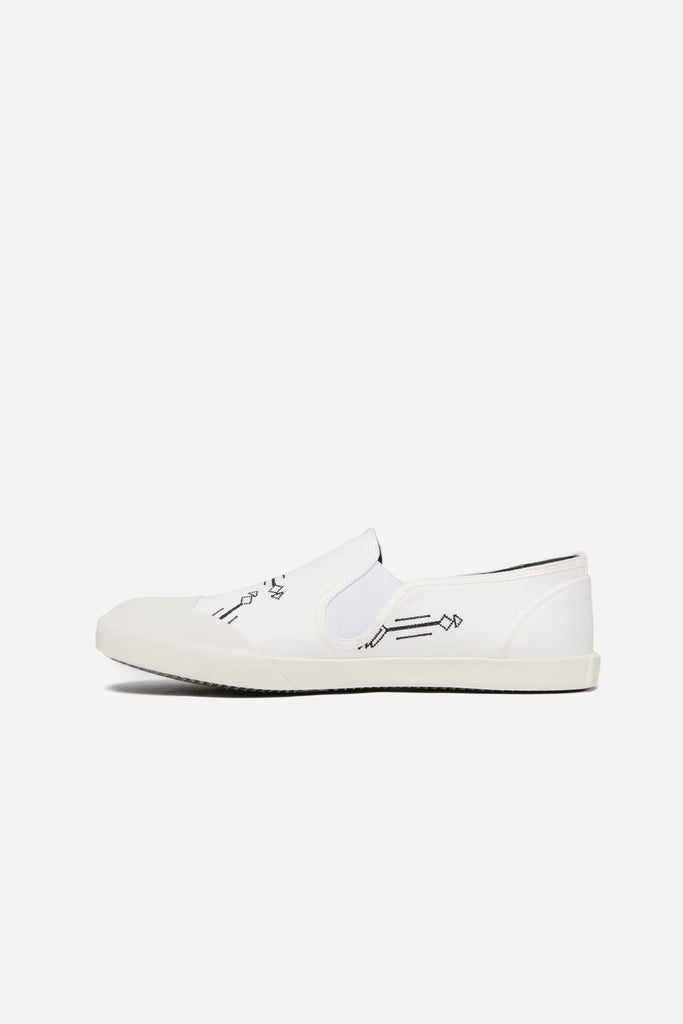Slip On Embroideried Canvas White