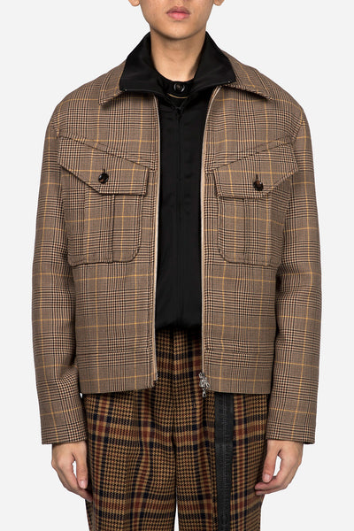 CMMN SWDN - Zip Jacket Prince Of Wales Check