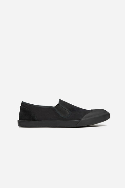 Lanvin - Slip On Stoned Washed Canvas Black
