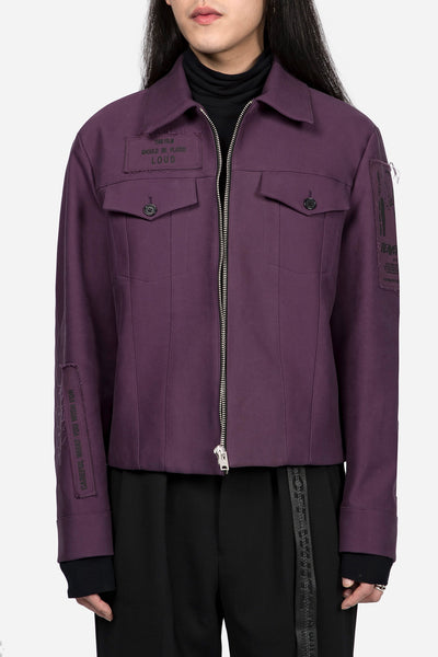 Yang Li - Blouson with Patches Dark Purple