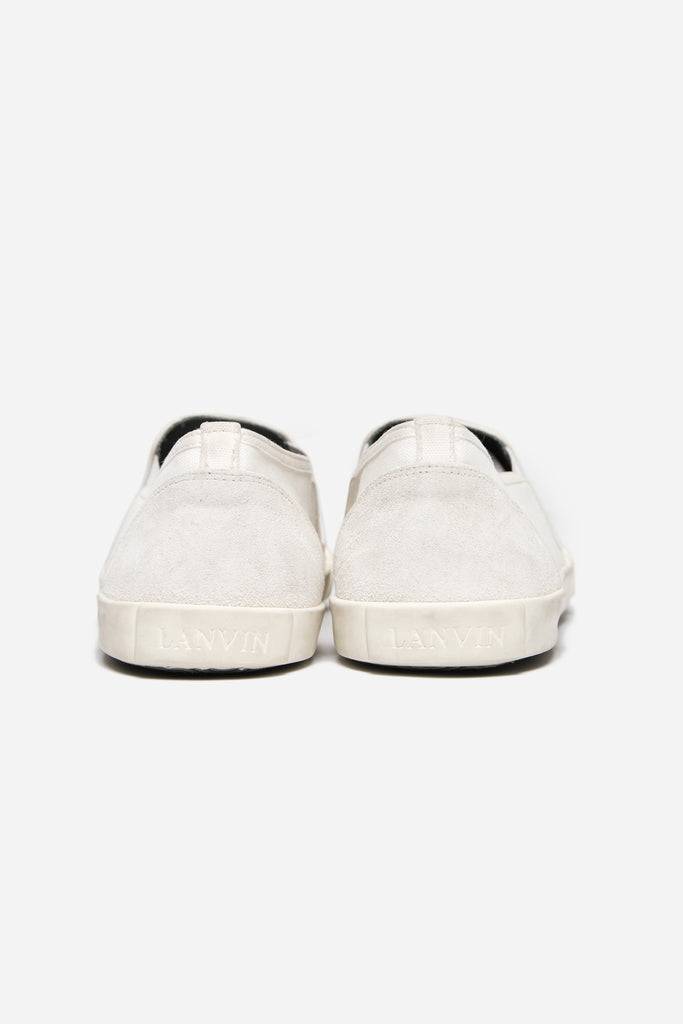 Slip On Stoned Washed Canvas White