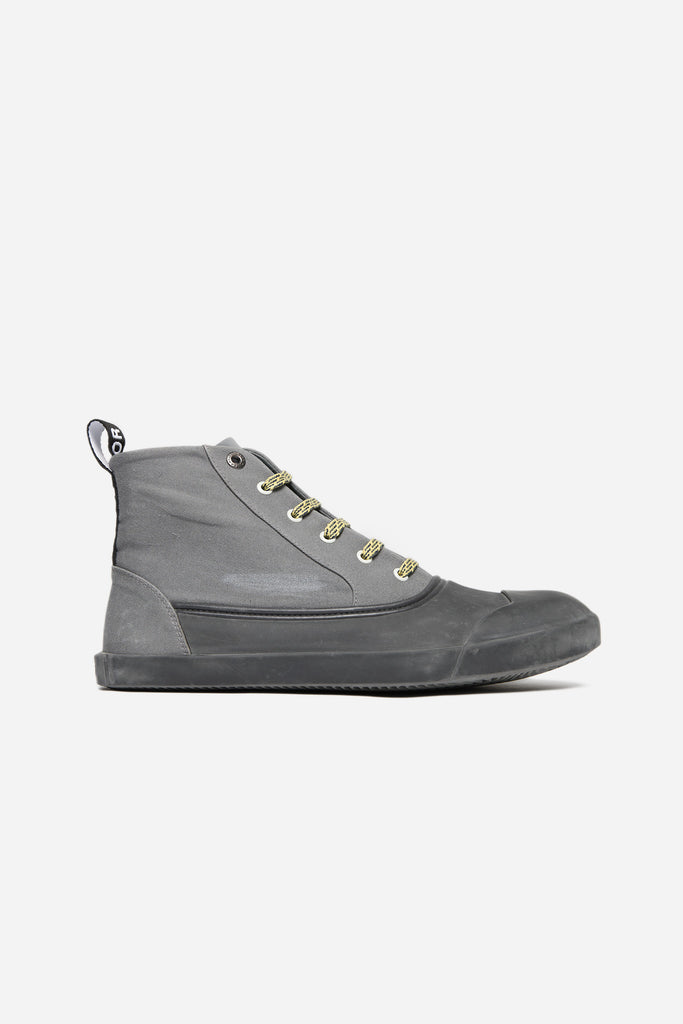 Mid Top Sneaker Washed Canvas Grey