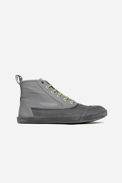 Lanvin - Mid Top Sneaker Washed Canvas Grey