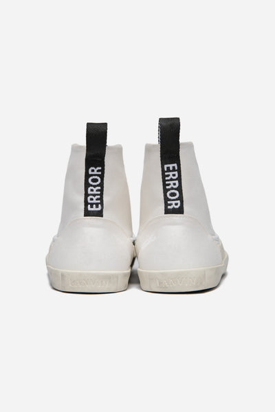 Mid Top Sneaker Washed Canvas White