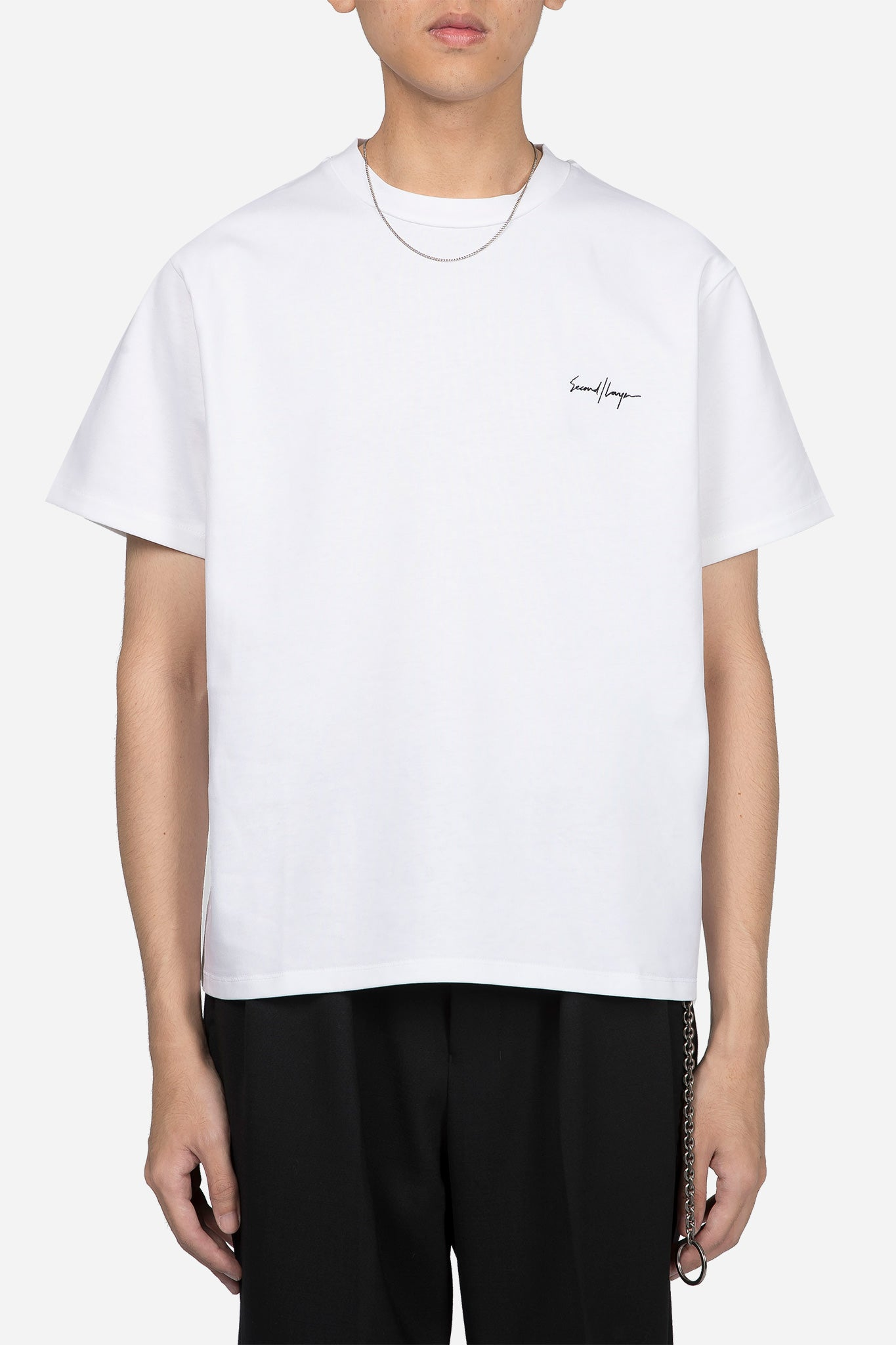 Structured Jersey Cropped T-shirt White