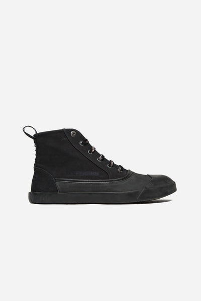 Lanvin - Mid Top Sneaker Washed Canvas Black