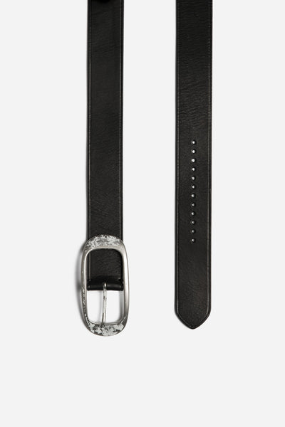 Lanvin - Oval Buckle Belt in Washed Calf