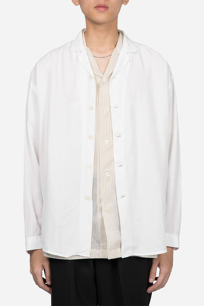 Second / Layer - Camp Collar Shirt Jacket White