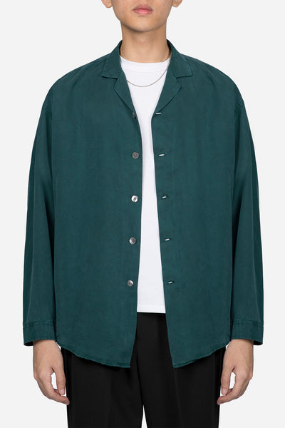 Second / Layer - Camp Collar Shirt Jacket Viridian