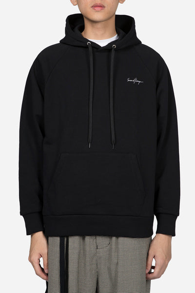 Second / Layer - Small Script Hoodie Black