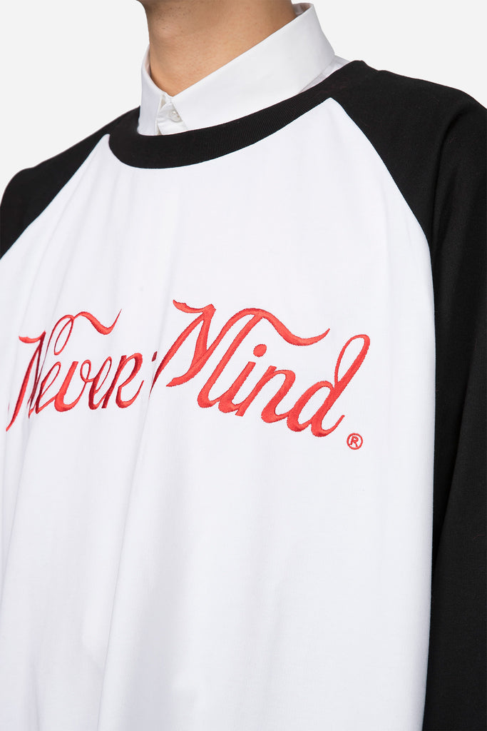 Desert Longsleeve Nevermind T-shirt Black White