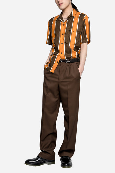 Stripes Printer SS Shirt Brown/Orange