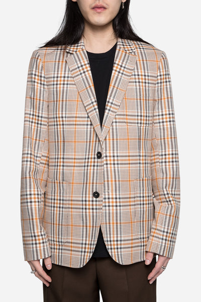 AMI - Half Lined 2 Button Suit Jacket Beige/Orange