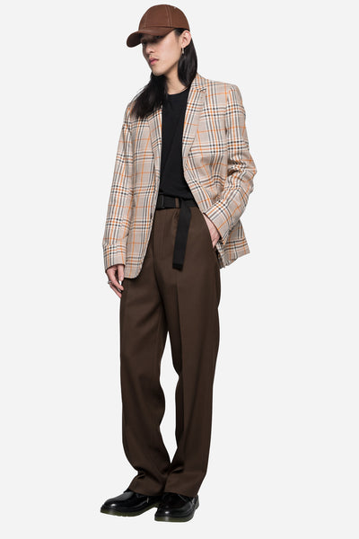 Half Lined 2 Button Suit Jacket Beige/Orange
