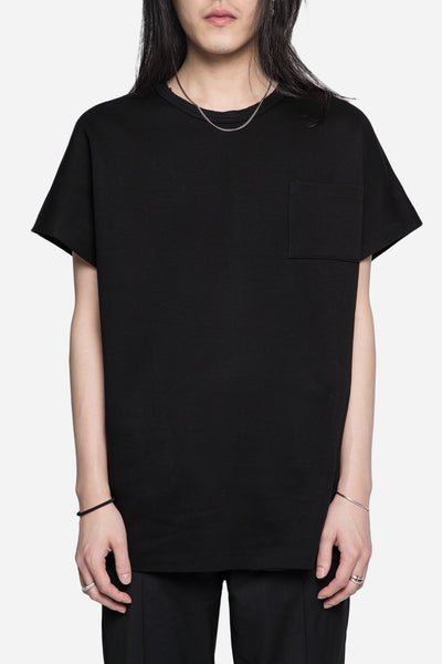 robert geller - Paul Knit Tee Black