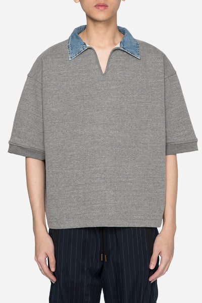 Fear of God - Grey Terry V-Neck Polo