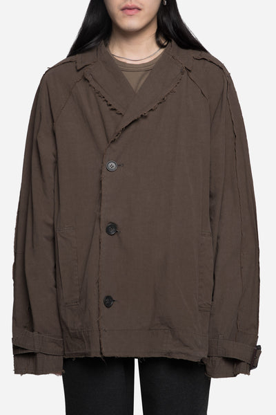 robert geller - Undone Jacket Khaki Grey