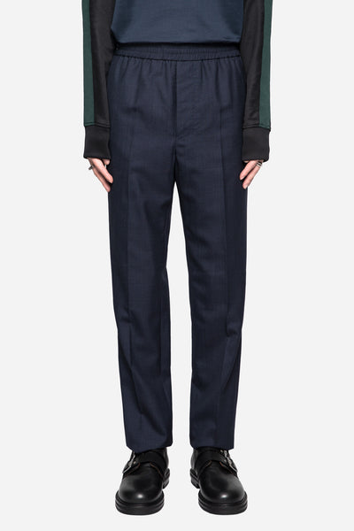 AMI - Elastic Tropical Wool Trousers Navy