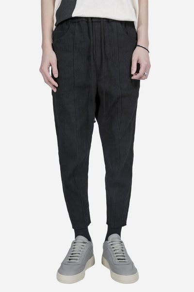 Song for the mute - Panelled Track Pant Black
