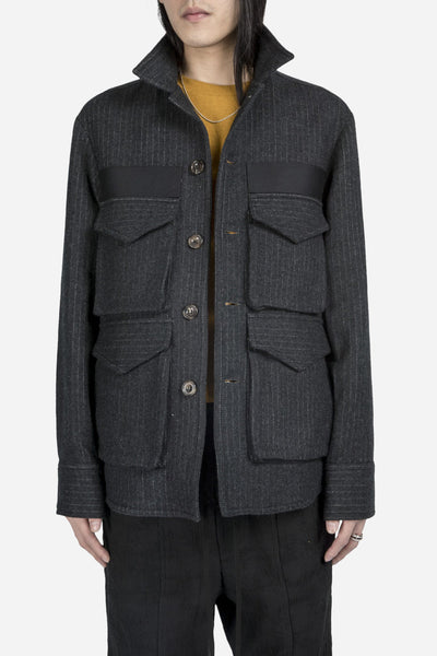 Song for the mute - 4 Pocket Square Jacket Charcoal
