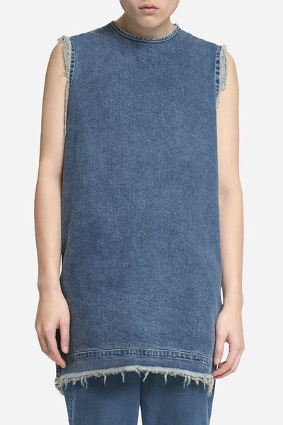 Seven Seconds of Memory - Denim Raw Tank Dry Velvet Wash
