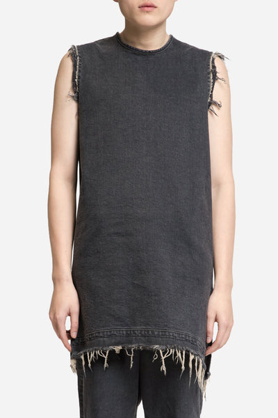 Seven Seconds of Memory - Denim Raw Tank Toil Grey Wash