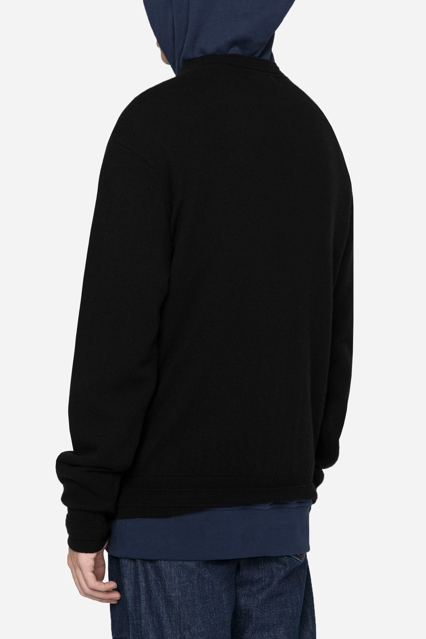 Brain Washed Knit Crew Black