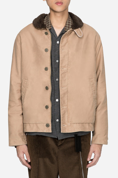 Undercover - Worker Jacket with Rose Graphic Beige
