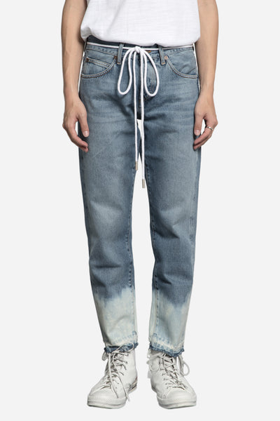 Off-White - Cropped Denim Jeans Bleach White