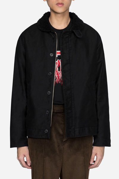 Undercover - Worker Jacket with Rose Graphic Black