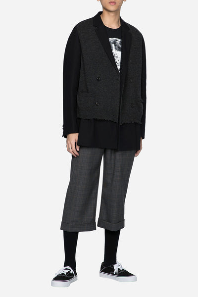 Knit Double Breaseted Suit Black