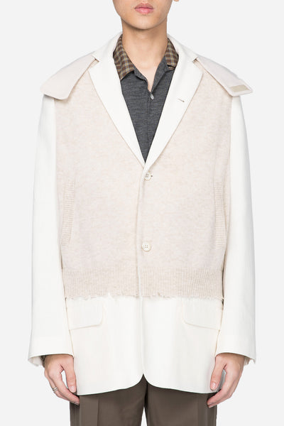 Undercover - Knit Hooded Suit Off-White