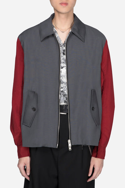 Yang Li - Blouson With Contrast Sleeves Grey