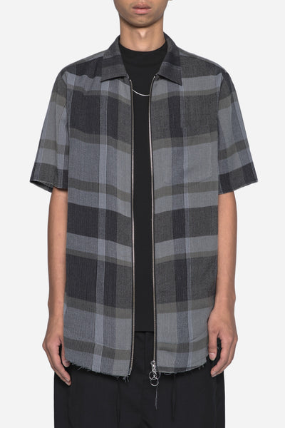 Chapter - Ome Shirt Navy Grey Grid