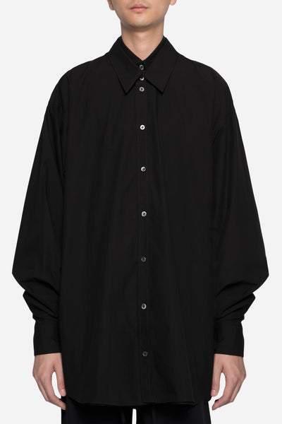 Dressundressed - Collaboration LS Layered Shirt Black