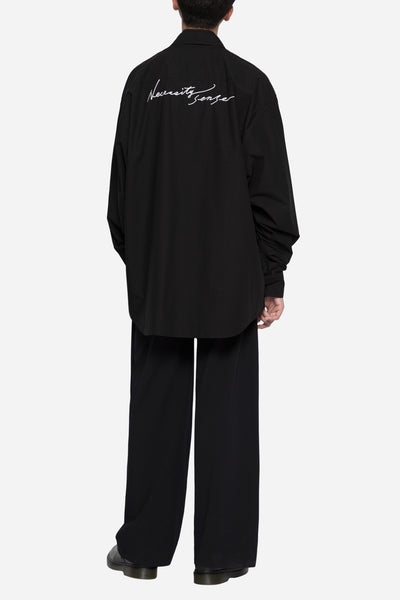 Collaboration LS Layered Shirt Black