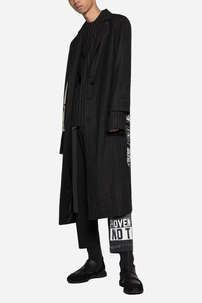 Blackfist x Doc Long Coat Dry Onyx Muted Stripes