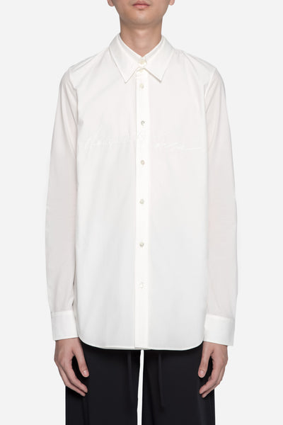 Dressundressed - Collab LS Layered Shirt White